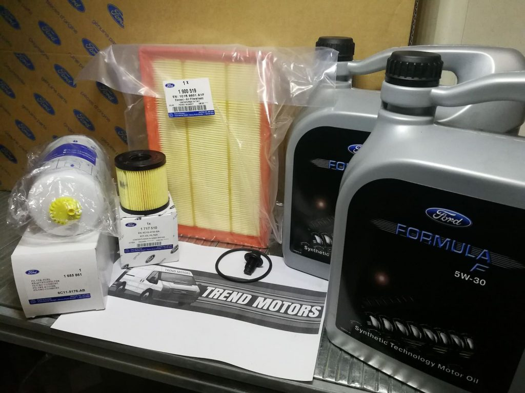 2006 - 2013 Ford Transit mk7 2.4 Genuine Service Kit with 10l 5w30 Oil Paper and Oil Filter Trend Motors Nottingham